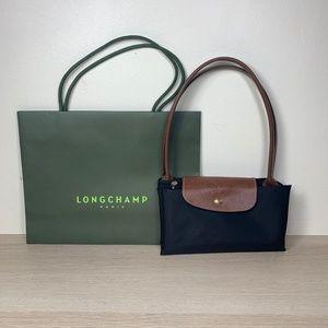Longchamp Le Piliage Black Long Handle Bag Tote